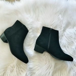 City C Kimbo Black Fx Suede Classic Ankle Bootie